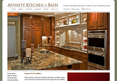 Web Development, Affinity Kitchen Bath.